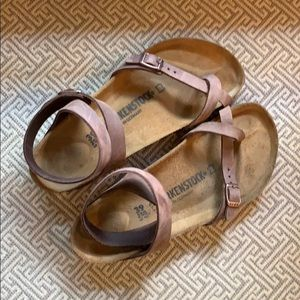 Birkenstock Yara Oiled Leather Habana  Sandals 39